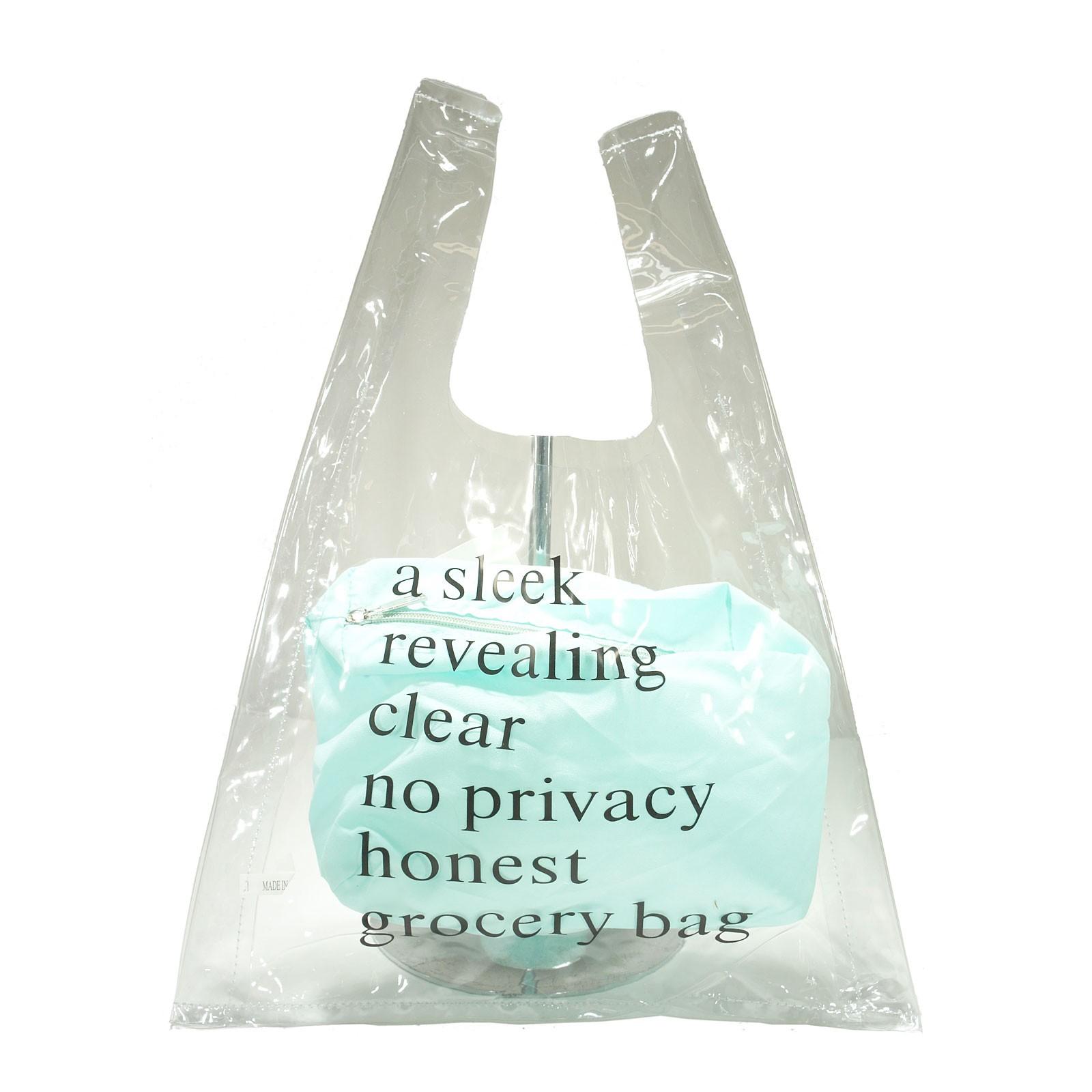 Whimsical Clear Blue Pouch Shopping Handbag