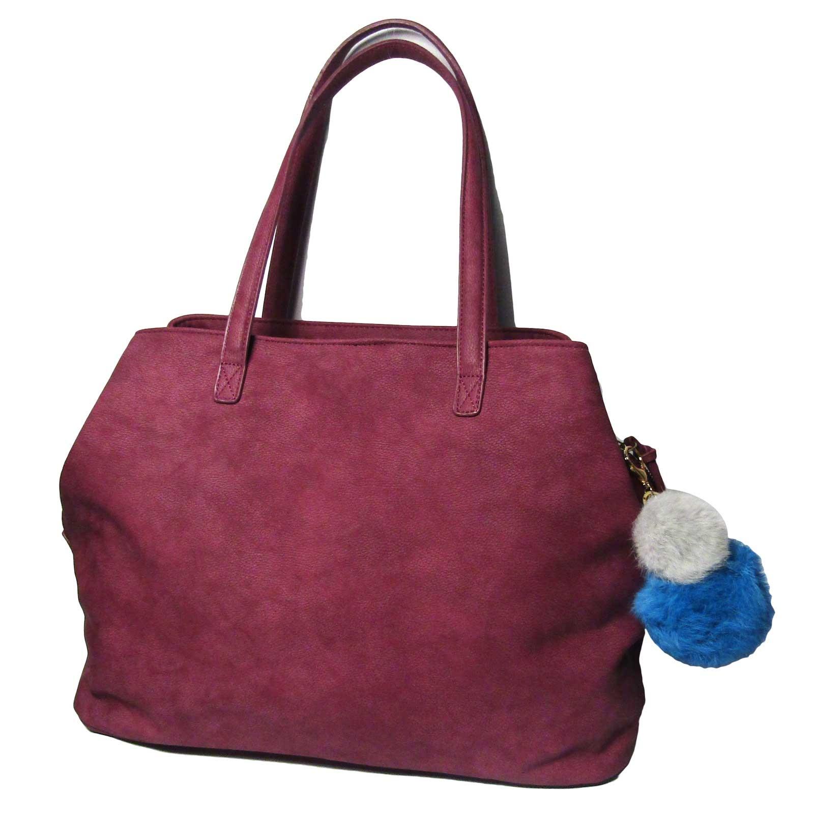 New Burgundy Jumbo Weekender Tote Handbag