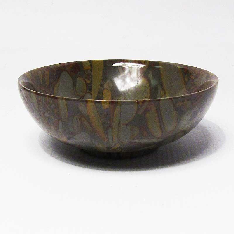 Brown Gray Pattern Stone Bowl