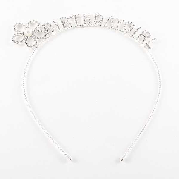 Dazzling Clear Crystal Birthday Girl Headband
