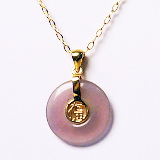 Gorgeous Round Fook Pendant Gold Chain Necklace