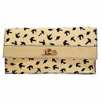 Griffo Handcrafted Bird Beige Calf Hair Leather Bag