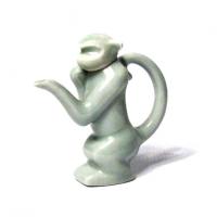 Unique Pale Green Monkey Ceramic Sauce Holder