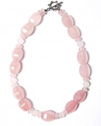 Handcrafted Pink Rose Quartz Nugget Necklace