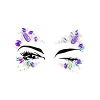 Dazzling Purple Iridescent Rhinestone Beads Face Jewels