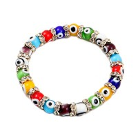 Stylish Multi Color Evil Eye Stretchy Bracelet
