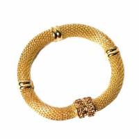Inspired Stunning Gold Mesh Crystal Bracelet