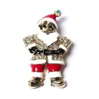 Holiday Santa Claus Pave Brooch