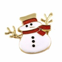 Holiday Snowman Pave Brooch