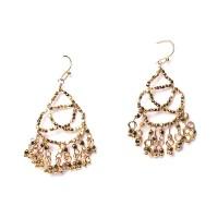 Romantic Gold Filigree Chandelier Drop Statement Earrings