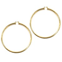 Stunning Modern Gold Thick Oversized Hoop Earrings