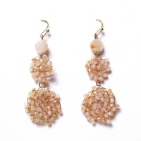 Stunning Gold Floral Dangle Earrings