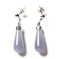 Chalcedony Teardrop Silver Dangle Earring