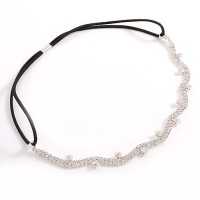Romantic Clear Rhinestone Links Head Band Tiara