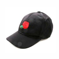 Gorgeous Hot Black Rose Satiny Statement Cap