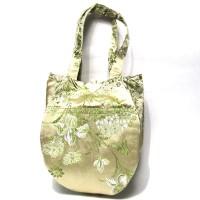 Gorgeous Handmade GreenTeardrop silk brocade purse handbag
