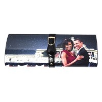 The President And First Lady Obama Michelle Magazine Clutch