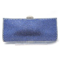 Blue Crystal Rays Gloss Evening Clutch Purse