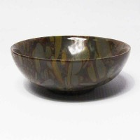 Brown Gray Pattern Stone Bowl