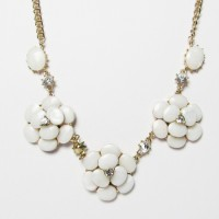 Multi Natural Floral Mother Of Pearl Chain Link Necklace