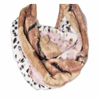 Golden Brown Leopard Animal Print Infinity Scarf