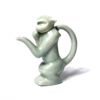 Unique Pale Green Monkey Ceramic Sauce Holder