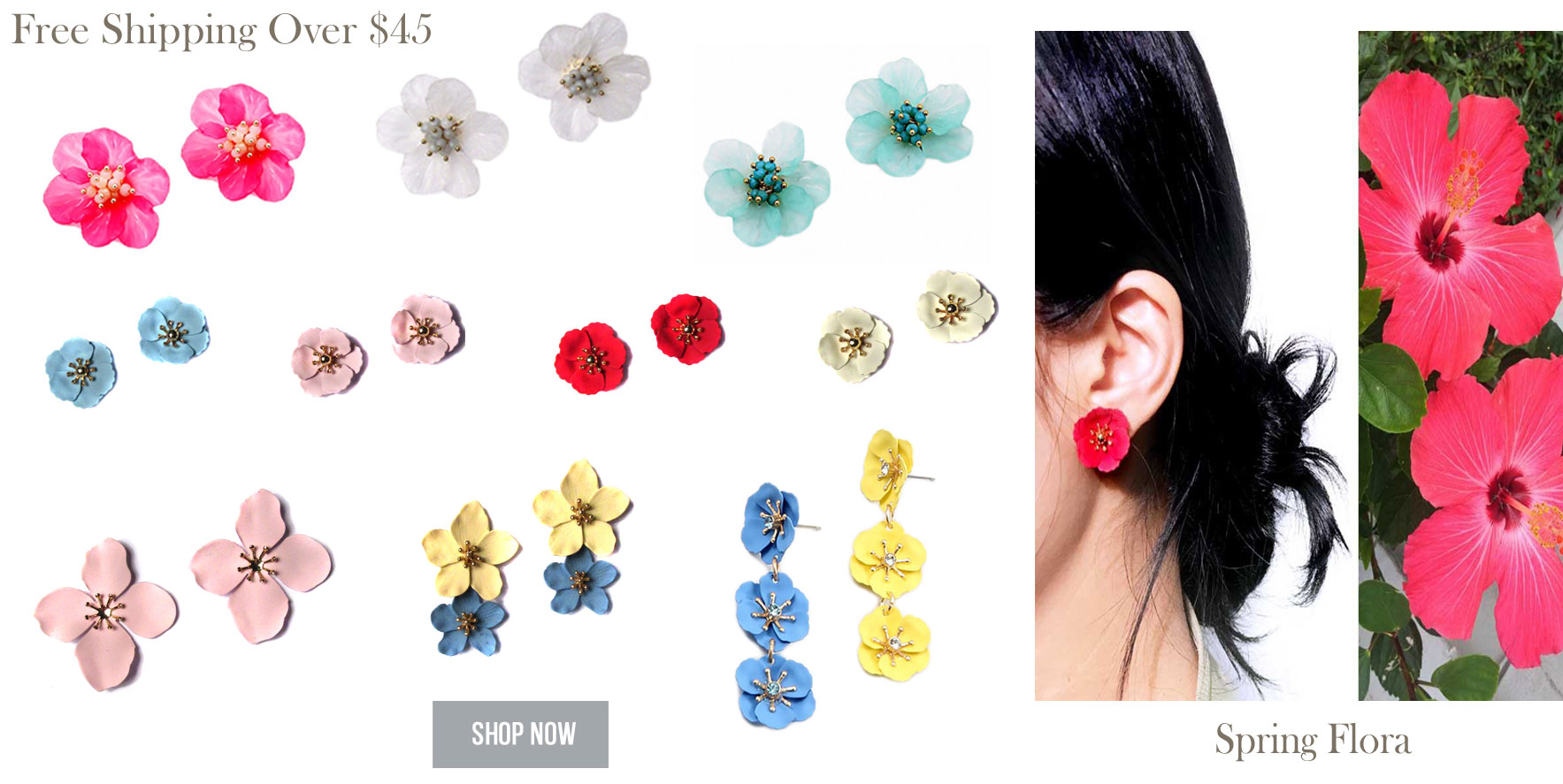 Spring Floral Statement Earrings