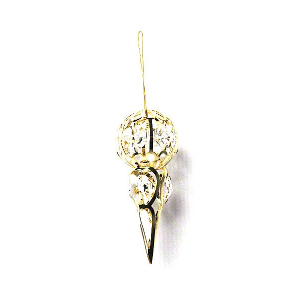 Precious Handcrafted 24K Gold-plated Austrian Crystal Cone Ornament