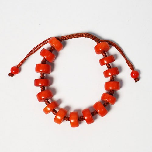 Hot Flame Red Coral Bracelet