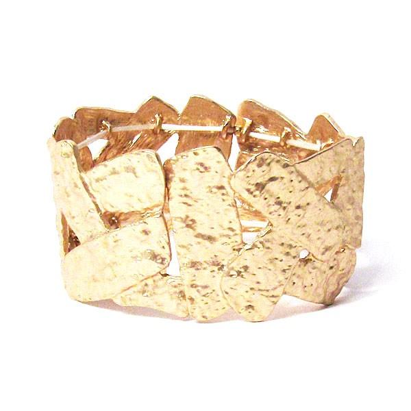 Designed Hammered Gold Cuff