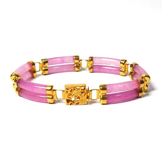 18k Double Strand Lavender Jade Bracelet