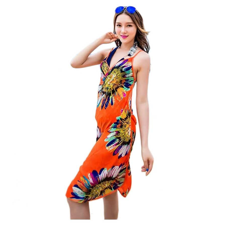 Colorful Adjustable Swim Cover Up Dress