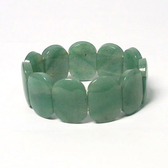 Exotic Tibetan Apple Green Jade Stretchy Bracelet
