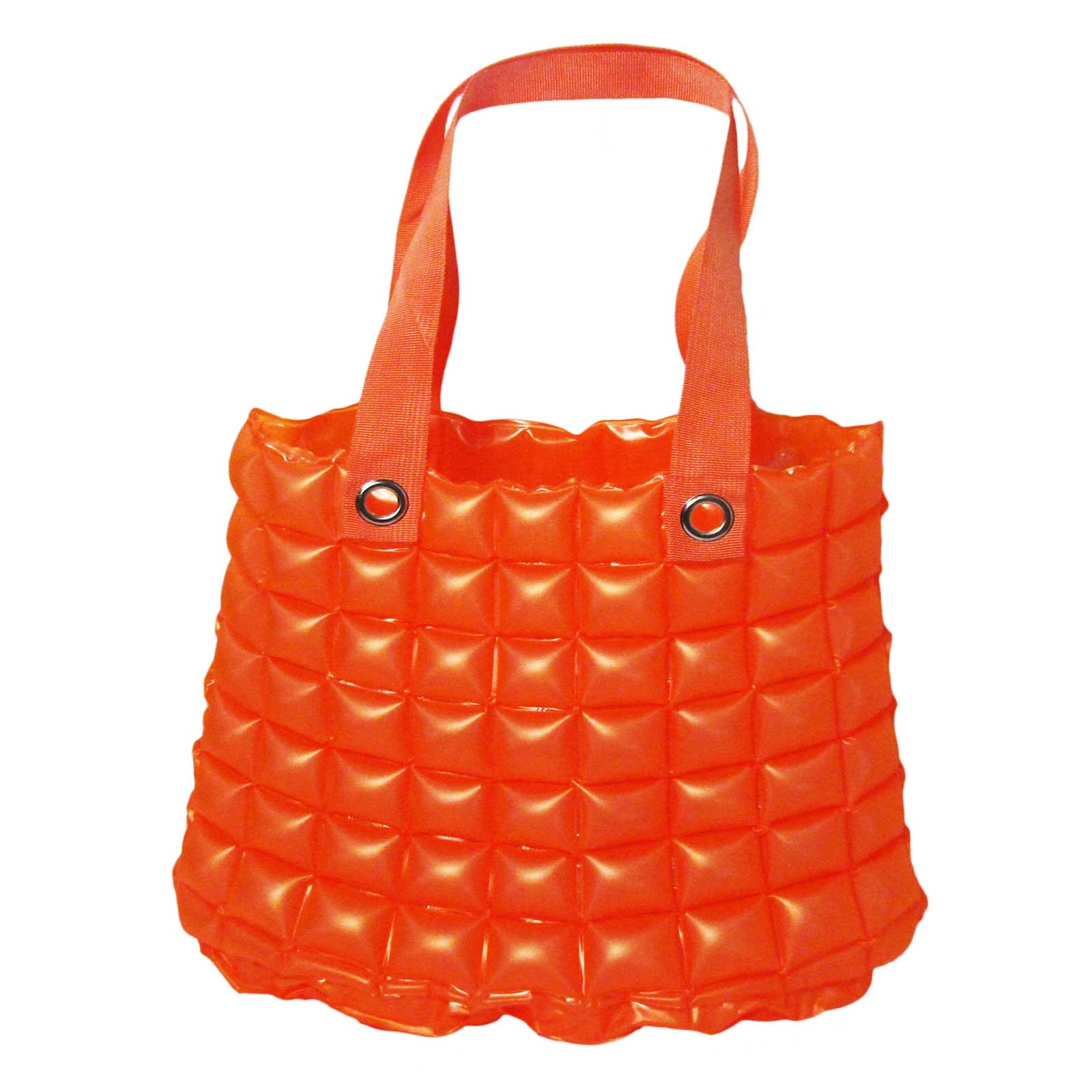 Chic Inflatable Orange Bubble Tote