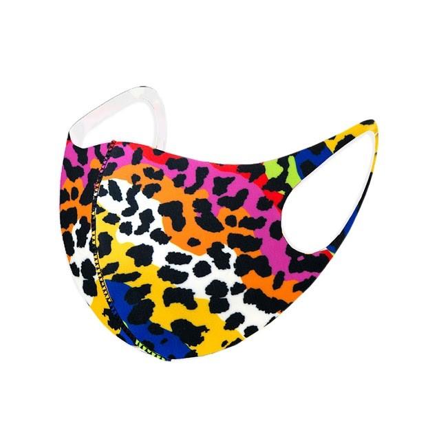 Stylish Multi Color Leopard Print Fashion Mask