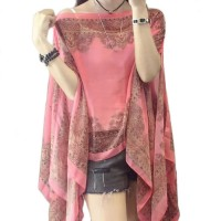 Gorgeous Pink Paisley Pearly Floral Cover-Up and Tunic