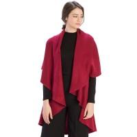 Versatile Burgundy Cape Shawl Vest