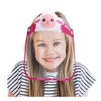 CUTE PINK LAMB PLASTIC FACE SHIELD FOR KIDS