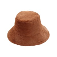 Brick Faux Fur Bucket Hat
