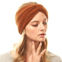 Brown Sherpa Fleece Earmuff Headband