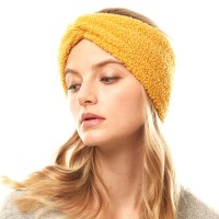 Yellow Sherpa Fleece Earmuff Headband