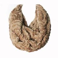 Soft Taupe Brown Faux Fur Loop Infinity Scarf