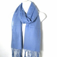 Romantic Blue Color 100% Pashmina Shawl