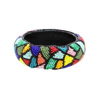 Gorgeous Colorful Beaded Bangle Bracelet