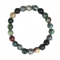 Handcrafted Genuine Multi Green Quartz Beads Stretchy Bracelet