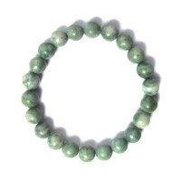 Handcrafted Genuine Green Agate Beads Stretchy Bracelet