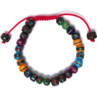 HANDCRAFTED MULTI COLOR TIBETAN TRIBAL STATEMENT BRACELET