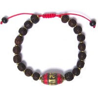Handcrafted Wooden Beads Tibetan Tribal Statement Bracelet