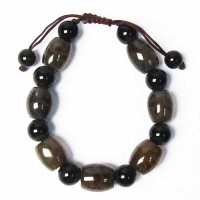 Handcrafted Genuine Gray Quartz Stretchy Bracelet