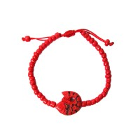 Bold Cinnabar Red Fish Bracelet